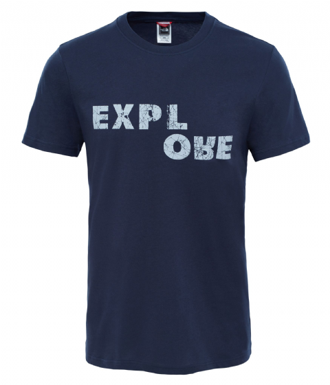 The North Face Mens Short Sleeve Explore Tee - Cotton T-Shirt - Urban Navy